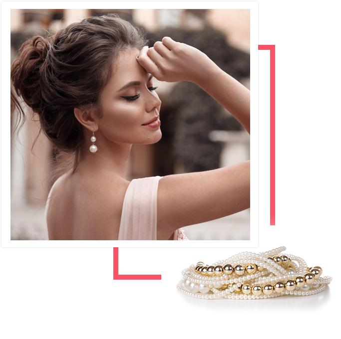 Bijoux pour femme en perle